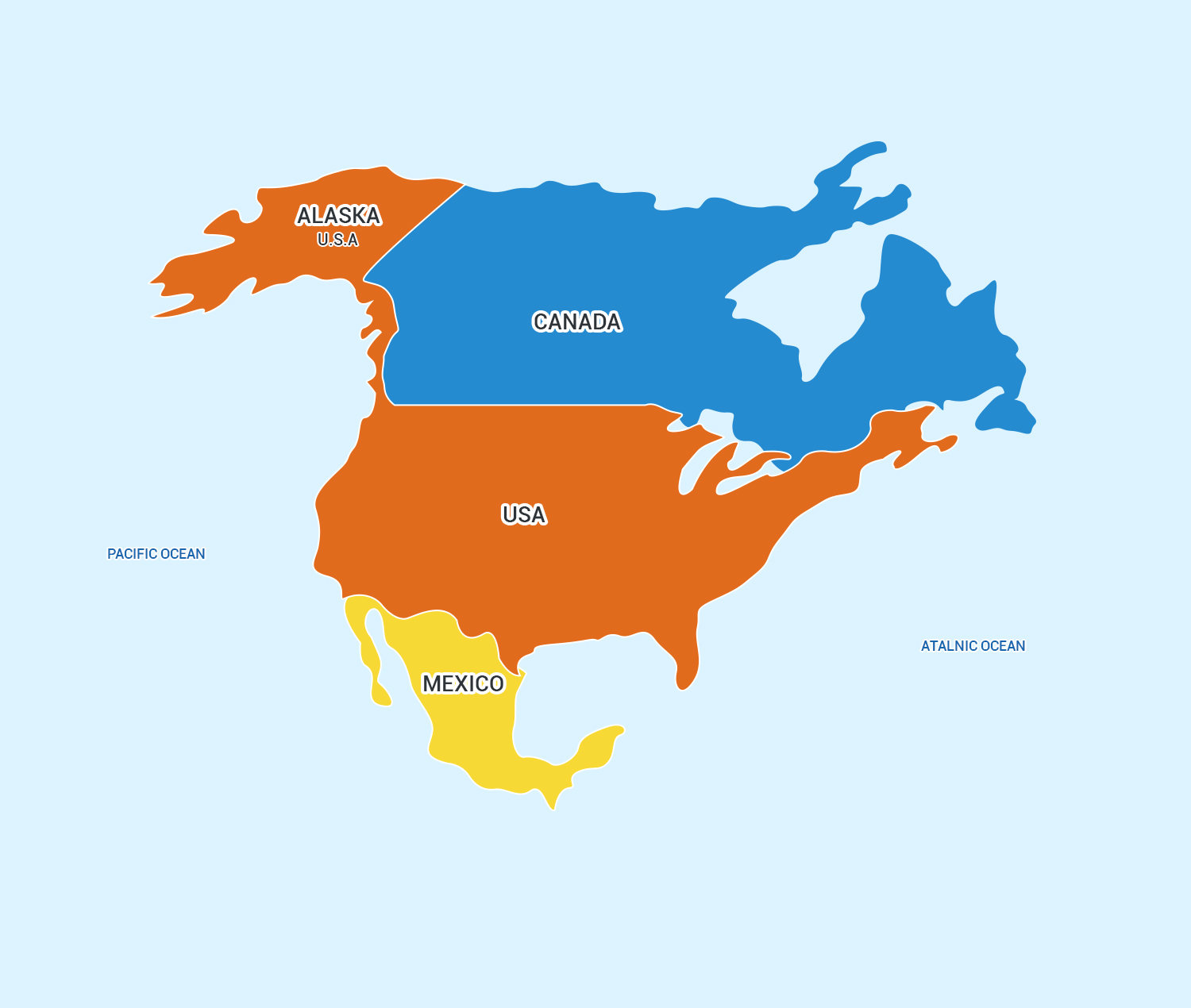 North America Continent Continents For Kids Rabbitsabc - Is united states north america